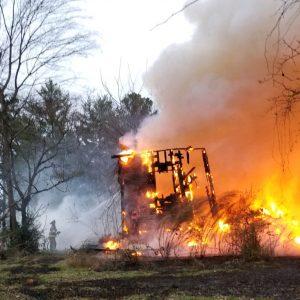 Fire destroys old Garlington Road house – The Laurens County Advertiser