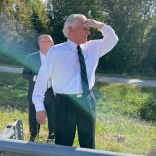Gov. Henry McMaster stopped on I-385 last week to help corral a cow.