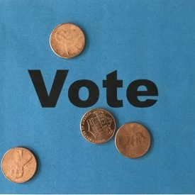 Vote Blue Penny tax