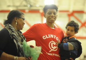 Clinton basketball senior night
